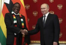 Photo of President Mnangagwa praises Russia's Putin